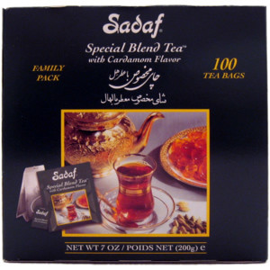 Special Blend Tea with Cardamom 100 Tea Bags Family Pack Foil Wrapping