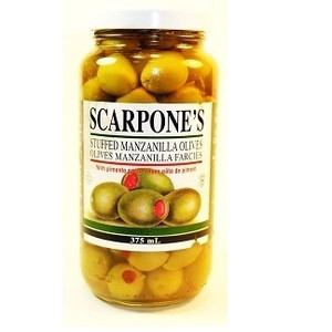 Stuffed Queen Olives 375 ml - SCARPONE'S