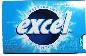 Sugar-Free Gum, Peppermint, 12 Count - Excel