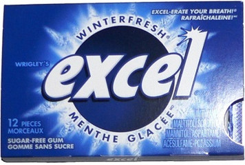 Sugar-Free Gum, Winterfresh, 12 Count - Excel