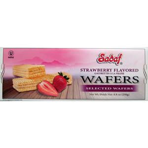 Wafer Strawberry 250g - Sadaf