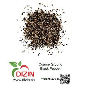 Coarse Ground Black Pepper 200 gr - DIZIN