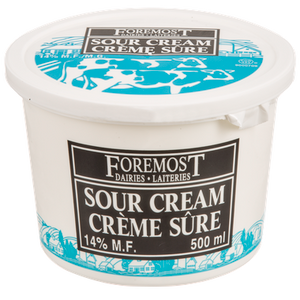 Sour Cream, Regular 14% (500mL) - FOREMOST