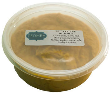 Spicy Curry Hummus (Homemade Style) 8 Oz (228 gr) - Termeh