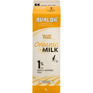 Organic 1% Milk (1 L) - VALLEY PRIDE