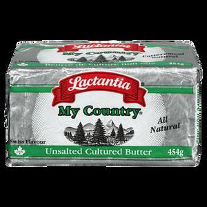 Butter, Unsalted (454 g) - LACTANTIA