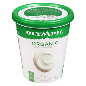 Organic Yogurt, Plain 2% (650 g) - OLYMPIC