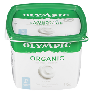 Organic No Fat Yogurt, Plain (1.75 kg) - OLYMPIC