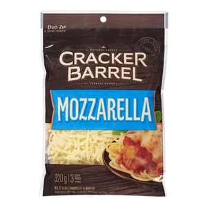 Cracker Barrel Shredded Cheese, Mozzarella (320 g) - Kraft