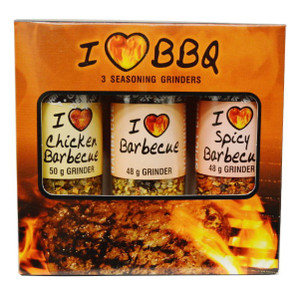 BBQ Mini Collection Set 3 Pack with Grinder Spices (Spicy Barbecue, Barbecue, Chicken Barbecue) - CAPE