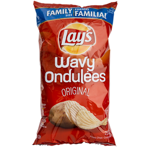 Wavy Potato Chips, Original (255 g) - LAY'S