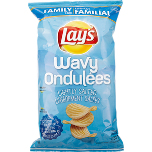 Wavy Potato Chips, Lightly Salted (255 g) - LAY'S
