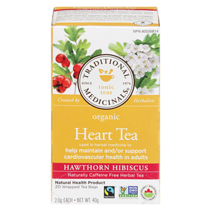 Organic Heart Tea with Hawthorn (20 ea) - TRADITIONAL MEDICINALS