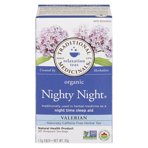 Organic Nighty Night Valerian Tea (20 ea) - TRADITIONAL MEDICINALS