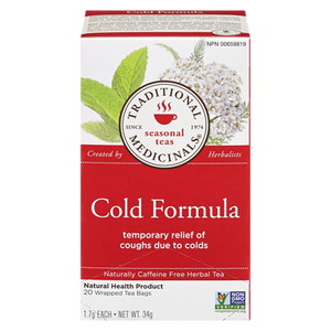 Cold Formula Herbal Tea (20 ea) - TRADITIONAL MEDICINALS