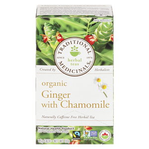 Organic Ginger with Chamomile (20 ea) - TRADITIONAL MEDICINALS