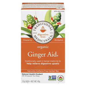 Organic Ginger Aid Herbal Tea (20 ea) - TRADITIONAL MEDICINALS
