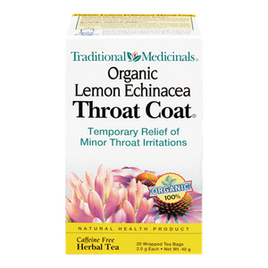 Organic Lemon Echinacea Throat Coat Herbal Tea (20 ea) - TRADITIONAL MEDICINALS