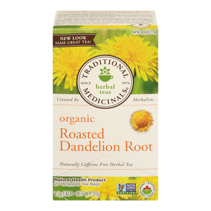 Organic Roasted Dandelion Root Herbal Tea (20 ea) - TRADITIONAL MEDICINALS