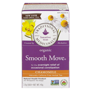 Organic Smooth Move Chamomile Herbal Tea (20 ea) - TRADITIONAL MEDICINALS