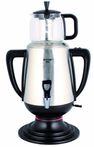 3.2 Liters Stainless Steel Samovar, Tea Maker, with Boil-Dry Protection - GOLDA INC.