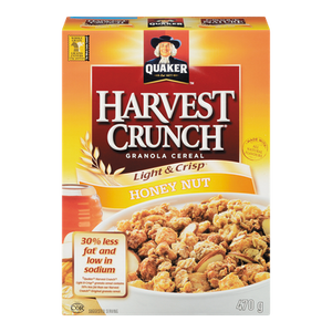 Harvest Crunch Light & Crisp, Honey Nut (470 g) - QUAKER