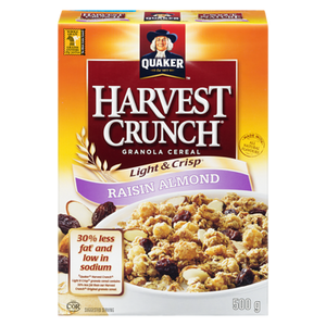 Harvest Crunch Granola Cereal, Raisin Almond (552 g) - QUAKER