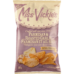 Chips, Parmesan & Roasted Garlic (220 g) - MISS VICKIE'S
