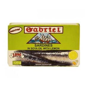 Sardines in Soya Oil with Lemon120 gr - Gabriel