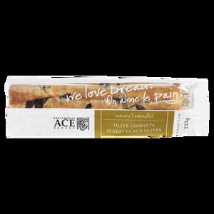 Ciabatta, Olive (225 g) - ACE BAKERY