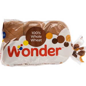 Hamburger Rolls, Whole Wheat (12x60g) - Wonder