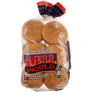 Hamburger Sesame Buns (866 g) - DELI WORLD