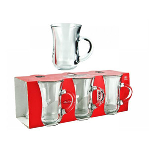 Tea Glasses with Handle Set of 6 Gift Box - Pasabahce