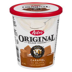Original Balkan Style Yogurt, Caramel (650 g) - Astro