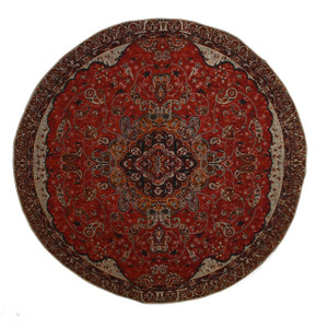 """Termeh Round Tablecloth Fahimeh Red (Dia 37.5"""")"""