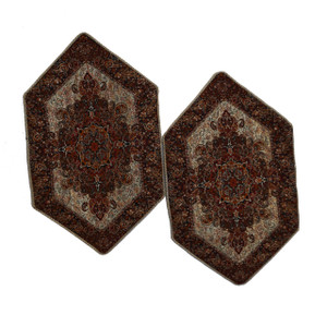 "Termeh 2 x Side Tablecloth Soraya (13"" x 19"")"