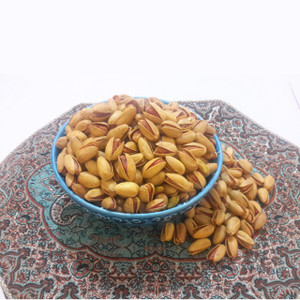 Long Roasted Salted Saffron Pistachios (Akbari) (1/2 lb)
