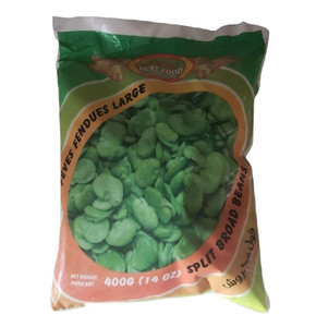 Fresh Frozen Peeled Broad Beans (Green Fava Beans) for Baghali Polo 400 gr - GreenWorld