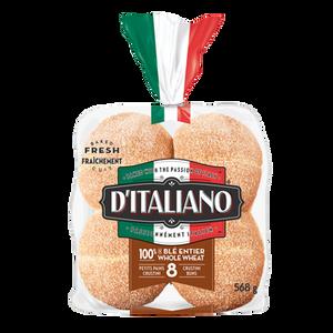 Whole Wheat Crustini Buns (568 g) - d'Italiano