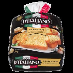 Bake At Home Thick Sliced Garlic Parmesan Bread (672 g) - d'Italiano