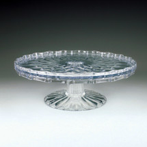 "10"" Crystal Cut Tiered Cake Plate"