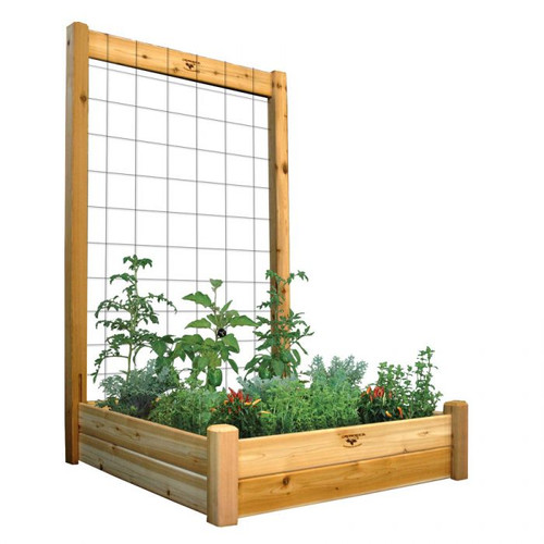 "Raised Gdn Bed with Trellis Kit  48x48x80 - 10""D"