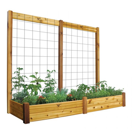 "Raised Gdn Bed with Trellis Kit  34x95x80 - 10""D"
