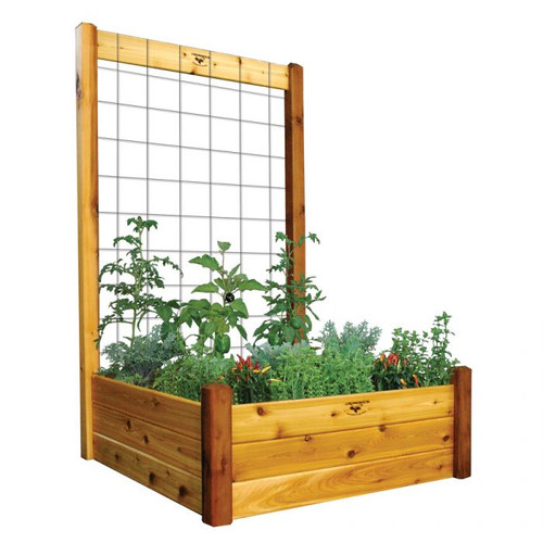 "Raised Gdn Bed with Trellis Kit  48x48x80 - 15""D"