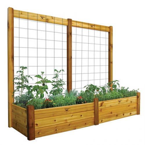 "Raised Gdn Bed with Trellis Kit  34x95x80 - 15""D"