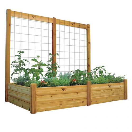 "Raised Gdn Bed with Trellis Kit 48x95x80 - 15""D"