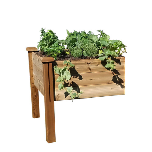 """Modular Elevated Garden Bed 34""""Wx34""""Lx32""""H  Extension Kit Safe Finish"""