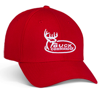 Our Buck Commander Logo Red New Era Hat has a comfortable fit all season long. It features premium, raised white embroidery.