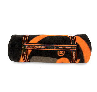 Orange and Black Buck Commander Fleece Blanket