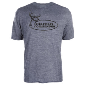 Buck Commander Grey Logo T-Shirt